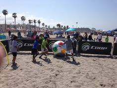 The Fun Zone at our Sand Soccer event!