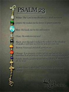 Jewelry Making Bracelets Psalm 23 bracelet with meaning of it: - Christian Crafts, Christian Jewelry, Psalm 23, Idees Cate, Beaded Jewelry, Beaded Bracelets, Pandora Bracelets, Wrap Bracelets, Necklaces