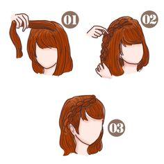 簡単可愛い女の子のヘアスタイル【子供】 - SHILASON Beauty, Kawaii Hairstyles, Beauty Illustration