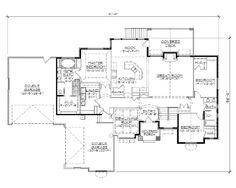 First Floor Plan of European   House Plan 79804