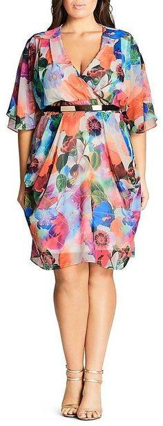 Want! Plus Size Wrap Dress