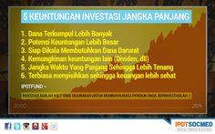 Investasi jangka panjang adalah salah satu cara terbaik untuk mengumpulkan dana yang lebih banyak dengan potensi keuntungan yang lebih banyak. Yuk simak keuntungan investasi jangka panjang berikut ini. Boleh di SHARE ya.  www.IPOTFUND.com