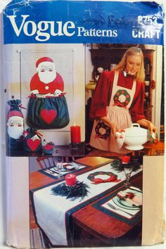 Vogue Sewing Pattern 8753 Christmas Craft