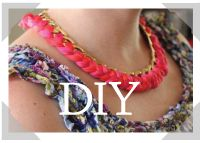Embroidery floss and chain necklace, so easy and so cute.