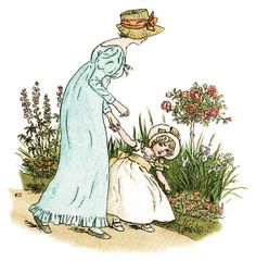 Little Phillis by Kate Greenaway Free Printable Vintage Clip Art