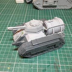 Added a half track guard and kit bashed the hull mounted melta cannon for my Hellhound. Now I just need to paint it up alongside the Gorgon. #wip #forgeworld #warhammer #warhammer40k #astramilitarum #krieg #kitbash #convert #modelmaking #tanks