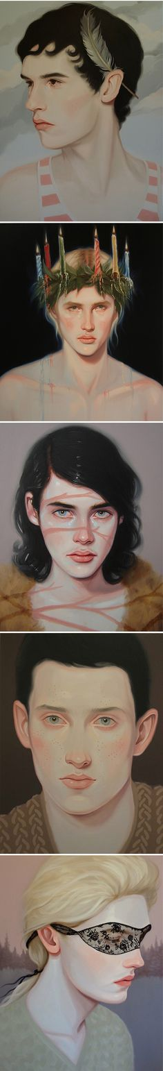 Ah, the beautifully bizarre portraits of Canadian painter Kris Knight