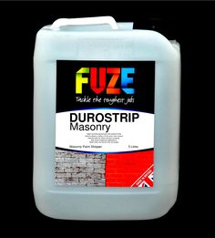 Durostrip Masonry, 5 Litres. Our revolutionary new masonry paint stripper makes light work of all types of masonry paint....... EBAY: http://stores.ebay.co.uk/Fuze-Products/Paint-Stripping-/_i.html?_fsub=11852247018&_sid=143172298&_trksid=p4634.c0.m322 AMAZON: http://www.amazon.co.uk/gp/aag/main?seller=A2C0052U2BURLU&ie=UTF8&marketplaceID=A1F83G8C2ARO7P FUZE SHOP: www.fuze-products.co.uk