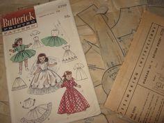 ORIGINAL Butterick 6759 Doll Clothes PATTERN for 19 inch Toni Sweet Sue Revlon #Butterick6759