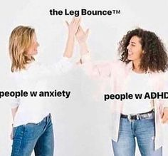 Wait i do this but i haven't been tested with anxiety or ADHD. My friends think i do have anxiety tho Stupid Funny Memes, Funny Relatable Memes, Hilarious, Funny Gifs, Memes Marvel, Def Not, Mood Pics, Really Funny, Dankest Memes