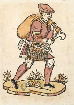 Chiffonnier-ferrailleur au Moyen Age