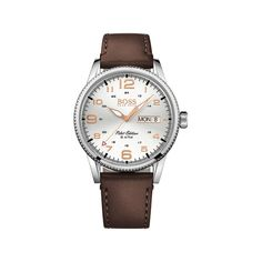 Shop the men's Hugo Boss watches collection across stainless steel & leather styles. Find new arrivals & save with Hugo Boss men's watches sale alerts Hugo Boss Watches, Gents Watches, Cool Watches, Watches For Men, Mens Watches Leather, Leather Men, Montres Hugo Boss, Brown Leather Strap Watch, Boss Black