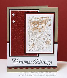 airbornewife's stamping spot: ... Christmas Blessings w/Santa Claus ....