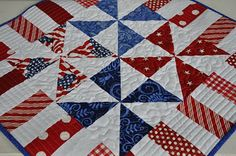 like the pattern (though she doesn't give a tut) and like the different quilting styles