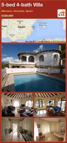 5-bed 4-bath Villa in Moraira, Alicante, Spain ►€339,000 #PropertyForSaleInSpain