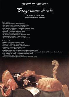 Programma del concerto dei liuti in Villa Brivio