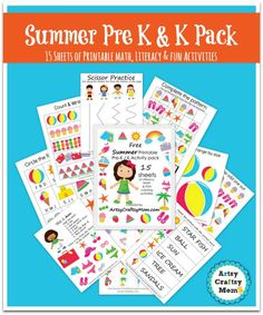 15 Summer Printable Pre-school & Kindergarten activities . ready to Print.