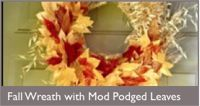 How to preserve FAll leaves with outdoor modpodge by  Gingerbread Snowflakes blog