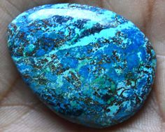 Hand Cut Earth Mined Azurite Natural Genuine stone by indroshil