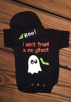 fafe9b0f7 Halloween Ghost ONESIE® / TWO Piece Ghost ONESIE® & Hat / Ghost Busters  /Trick or Treat Creeper/ Ghost Costume/ Infant Halloween Costume