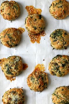 Spinach and Blue Cheese Biscuits | http://joythebaker.com/2015/05/spinach-and-blue-cheese-biscuits/