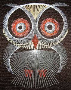 And then there's string art! I made this same one from a kit. Yep, another owl. Smh...