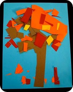 Snippin Fall Foliage (via Toddler Approved) scissors & glue = my 3 yo's favorite things! #crafts