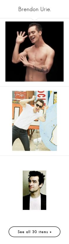 """""""Brendon Urie."""" by sls1412 ❤ liked on Polyvore featuring panic at the disco, brendon urie, green, pictures, brendon, pictures - brendon urie, bands, patd, icon photos and accessories"""