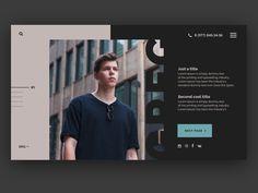 First page of my personal website Website Design Inspiration, Design Blog, Web Design Company, Seo Company, Ux Design, Design Ideas, Design Agency, Branding Design, Personal Website Design
