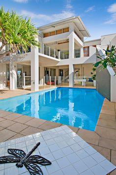 Beach house in Sunrise Beach Open Plan Living, Lounges, Shutters, Decks, Beach House, Sunrise, Outdoor Decor, Home, Blinds