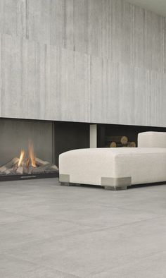 Porcelain stoneware wall/floor tiles with concrete effect CEMENTO by Casalgrande Padana @Casalgrande Padana
