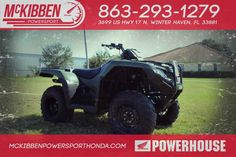 New 2017 Honda FourTrax Rancher 4x4 ATVs For Sale in Florida. 2017 HONDA FourTrax Rancher 4x4, McKibben Powersport Honda is a family owned and operated dealership in Winter Haven, Florida. We are located at 3699 US HWY 17 N Winter Haven Fl, 33881 between US HWY 92 and Havendale Blvd. We proudly serve Polk county and the surrounding areas, to include Lakeland, Auburndale, Bartow, Kissimmee, Lake Alfred, and Sebring. We are a Honda Powerhouse Dealer and we represent the full line for Honda…