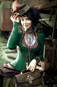 lucy-corsetry:  londonwarrior:  Steam punk letter carrier -top of the morning 2 you x  Love steampunk that deviates from various shades of b...