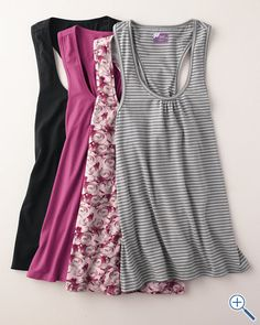 summer tunics, oh so perfect with shorts...