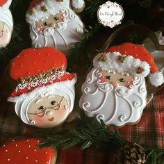 Christmas cookies, Santa, Mr and Mrs Claus Cookies, gingerbread cookies, keepsake cookies gifts, Cookies gifts
