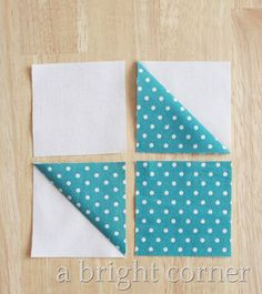 Easy Quilt Patterns Free, Quilt Square Patterns, Pattern Blocks, Half Square Triangle Quilts, Square Quilt, Quilting Tutorials, Quilting Projects, Star Quilt Blocks, Block Quilt