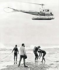 1967: navy divers search for missing Australian Prime Minister Harold Holt