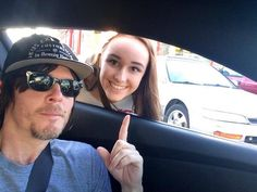 Norman and Fan girl @ a in and out drive thru 2 /23/14 #LA