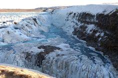 The famous Gulfoss waterfall of Iceland! #Iceland #Gulfoss #Waterfall