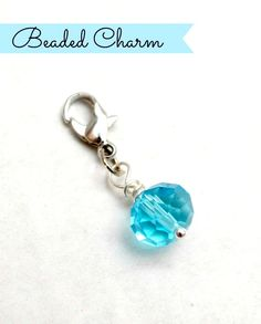 Beaded Charm: Easy to make and great to use with Origami Owl lockets!