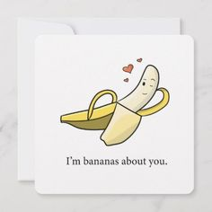 valentines day puns Bananas about you valentines day/ love card Funny Valentines Cards, Valentines Gifts For Boyfriend, Valentine Day Love, Funny Cards, Boyfriend Gifts, Valentine Gifts, Diy Cards For Boyfriend, Diy Anniversary Cards For Boyfriend, Cheesy Valentine Cards