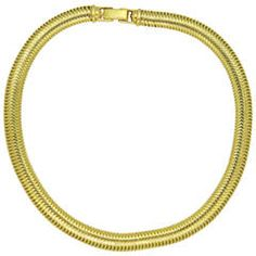 Tiffany & Co. Retro Gooseneck Gold Necklace   From a unique collection of vintage more necklaces at https://www.1stdibs.com/jewelry/necklaces/more-necklaces/