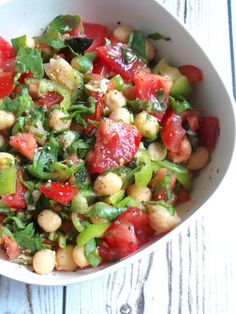 Tomato, Garlic and Chickpea Salad Recipe