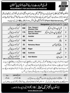 Descon Engineering Jobs 2019 Engineering Department With Images