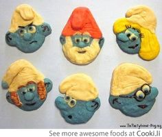 Awesome Smurf cookies  See More at http://www.cooki.li/ -