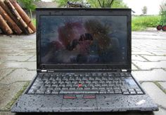 """When ThinkPads Take a Shower""  This #Lenovo #ThinkPad was left in the rain and still works! Check out the full story!!"
