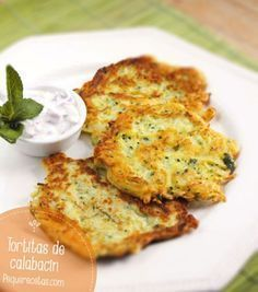 Tortitas de calabacin (Calabacin, huevo y harina)