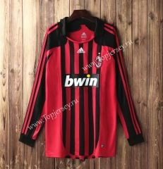 df64073092a topjersey provides cheap and quality AC Milan Home Red   Black LS Thailand  Soccer Jersey AAA-SL with the information of price