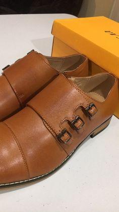 bb6af205576 UV Signature Mens Triple Monk Strap Cap Toe Dress Shoes  fashion  clothing   shoes
