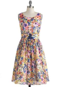Summer Annuals Dress, #ModCloth Love this floral print!